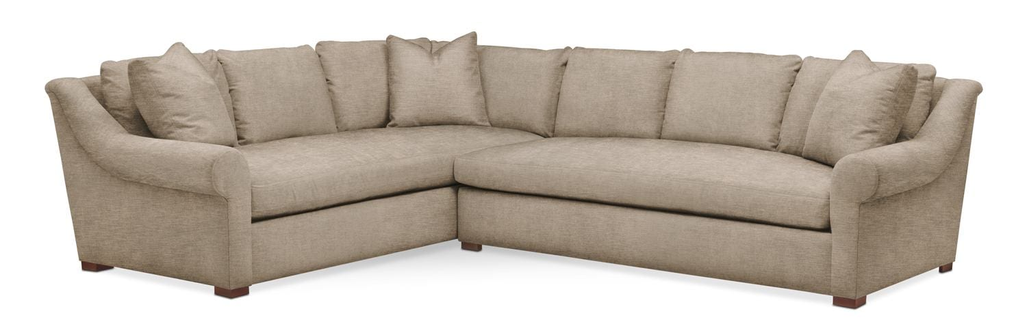 Asher 2 Piece Sectional With Right Facing Sofa   Cumulus In Dudley Burlap  By Kroehler