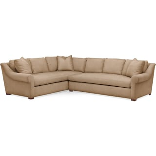 Asher 2 Pc. Sectional with Right Arm Facing Sofa- Cumulus in Hugo Camel