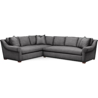 Asher 2 Pc. Sectional with Right Arm Facing Sofa- Cumulus in Millford II Charcoal