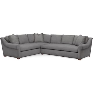Asher 2 Pc. Sectional with Right Arm Facing Sofa- Cumulus in Hugo Graphite