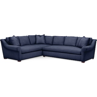 Asher 2 Pc. Sectional with Right Arm Facing Sofa- Cumulus in Oakley III Ink