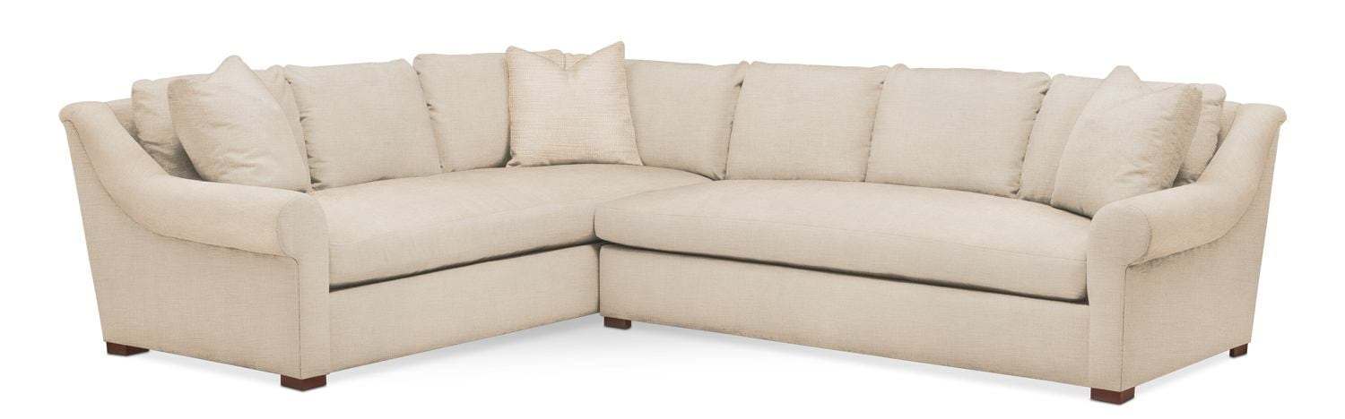 Asher 2 Piece Sectional With Right Facing Sofa   Cumulus In Anders Ivory By  Kroehler