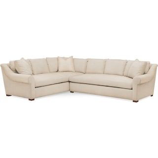 Asher 2 Pc. Sectional with Right Arm Facing Sofa- Cumulus in Anders Ivory