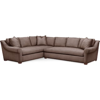Asher 2 Pc. Sectional with Right Arm Facing Sofa- Cumulus in Oakley III Java