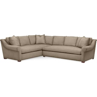 Asher 2 Pc. Sectional with Right Arm Facing Sofa- Cumulus in Statley L Mondo