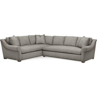 Asher 2 Pc. Sectional with Right Arm Facing Sofa- Cumulus in Victory Smoke