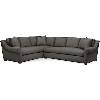 Asher 2 Pc. Sectional with Right Arm Facing Sofa- Cumulus in Statley L Sterling