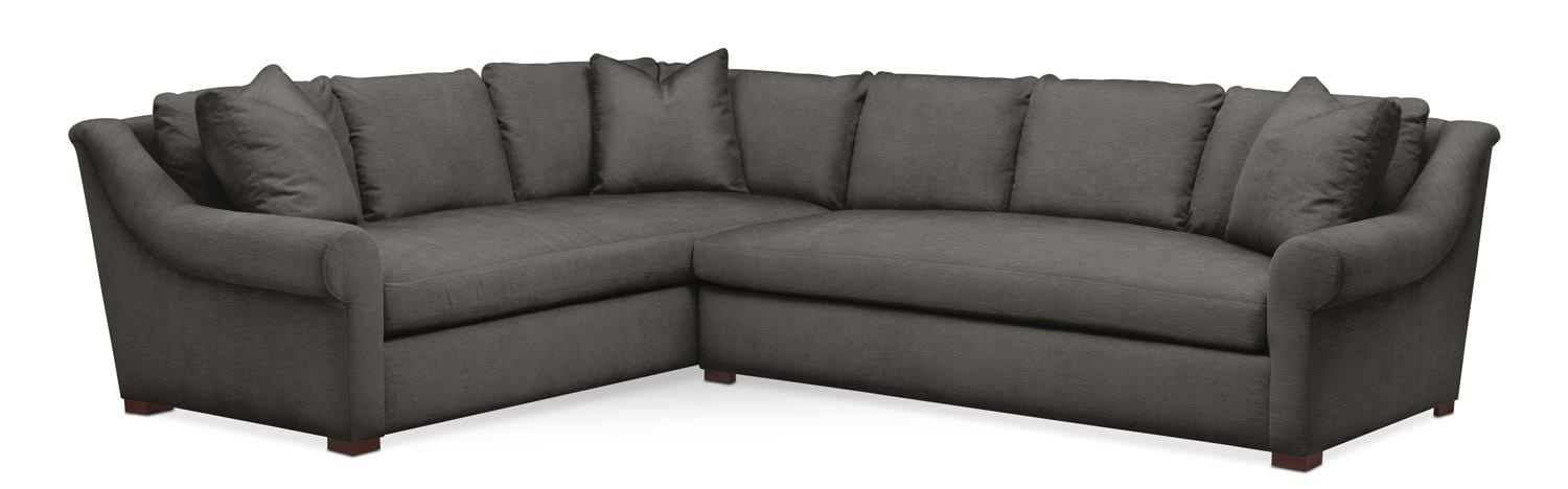 Living Room Furniture - Asher 2 Pc. Sectional with Right Arm Facing Sofa- Cumulus  sc 1 st  American Signature Furniture : american signature sectional - Sectionals, Sofas & Couches