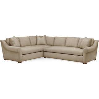 Asher 2 Pc. Sectional with Right Arm Facing Sofa- Cumulus in Millford II Toast