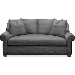 Asher Apartment Sofa- Cumulus in Millford II Charcoal