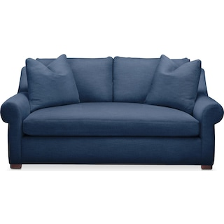 Asher Apartment Sofa- Cumulus in Hugo Indigo