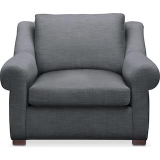 Asher Chair- Cumulus in Depalma Charcoal