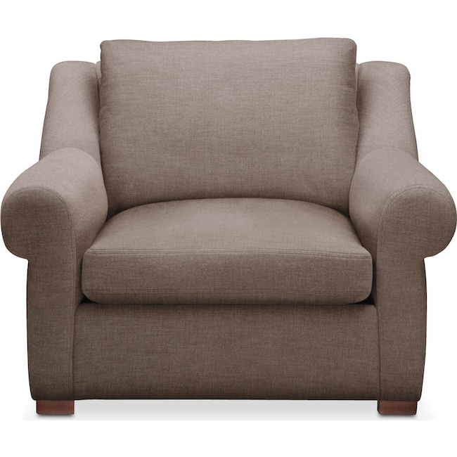 Living Room Furniture - Asher Chair- Cumulus in Hugo Mocha