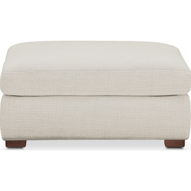 Living Room Furniture - Asher Ottoman- Cumulus in Victory Ivory