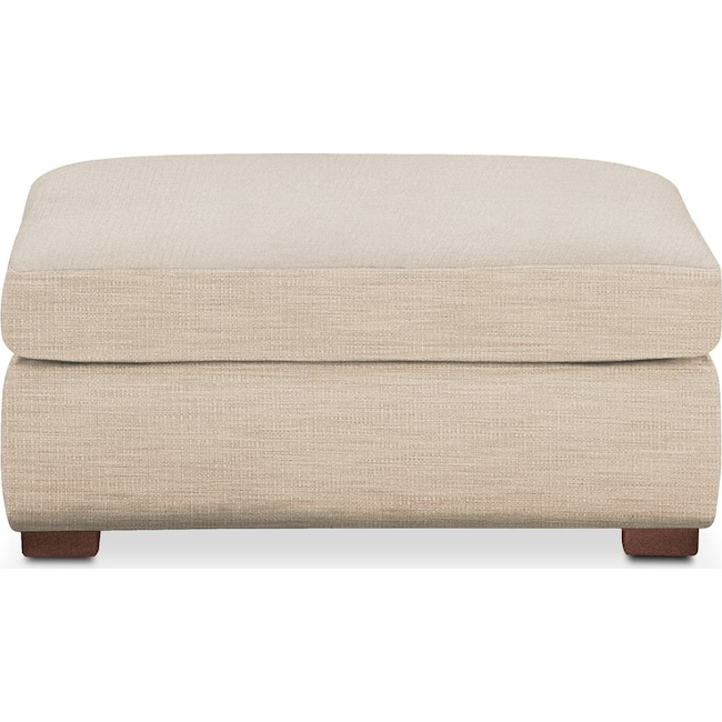 Living Room Furniture - Asher Ottoman- Cumulus in Anders Ivory