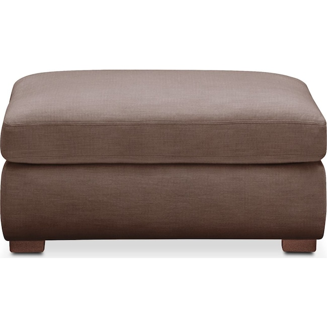 Living Room Furniture - Asher Ottoman- Cumulus in Oakley III Java