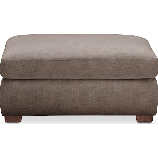 Accent and Occasional Furniture - Asher Ottoman- Cumulus in Hugo Mocha