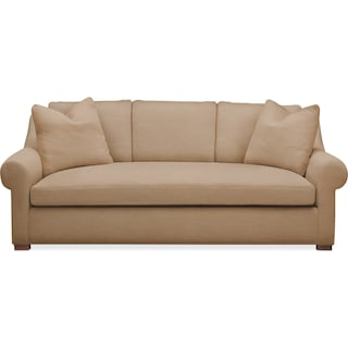 Asher Sofa- Cumulus in Hugo Camel