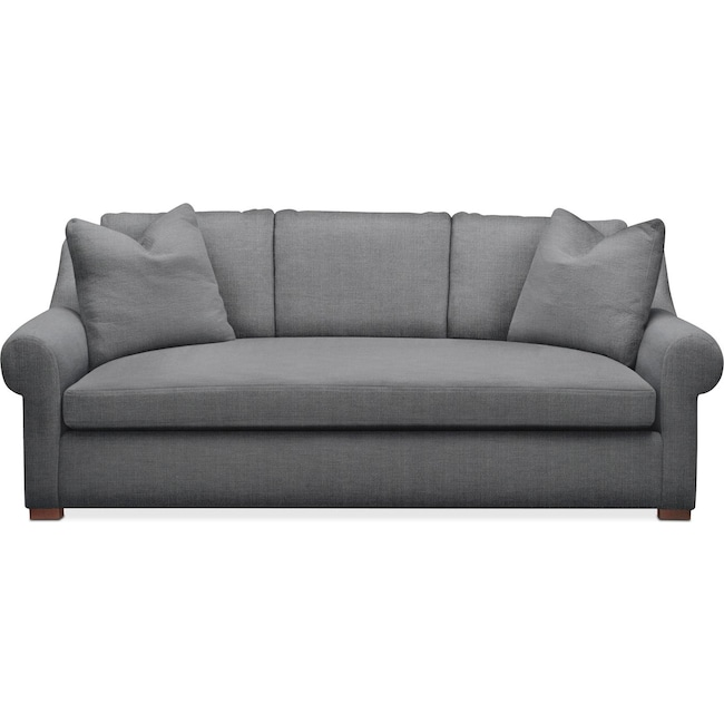 Living Room Furniture - Asher Sofa- Cumulus in Curious Charcoal