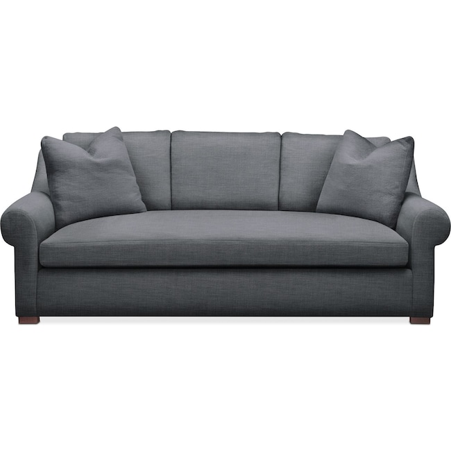 Living Room Furniture - Asher Sofa- Cumulus in Depalma Charcoal