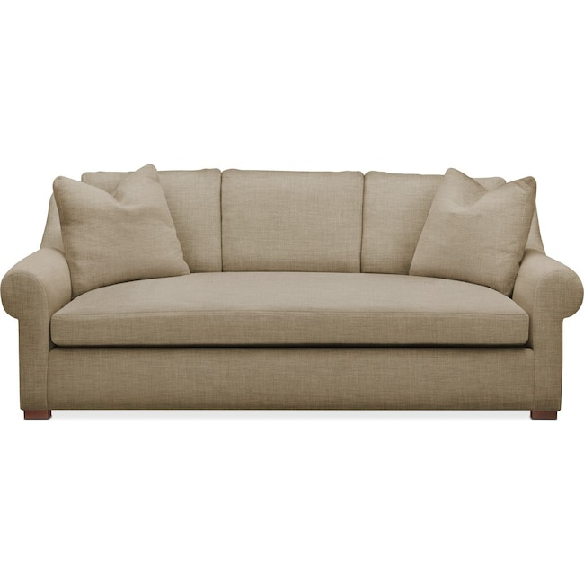 Living Room Furniture - Asher Sofa- Cumulus in Milford II Toast