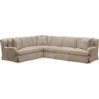 Campbell 2 Pc. Sectional with Left Arm Facing Sofa- Cumulus in Dudley Burlap