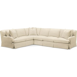 Campbell 2 Pc. Sectional with Left Arm Facing Sofa- Cumulus in Anders Cloud