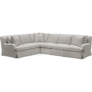 Campbell 2 Pc. Sectional with Left Arm Facing Sofa- Cumulus in Dudley Gray