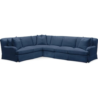 Campbell 2 Pc. Sectional with Left Arm Facing Sofa- Cumulus in Abington TW Indigo