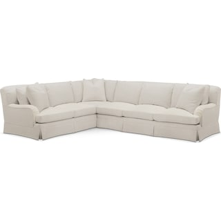 Campbell 2 Pc. Sectional with Left Arm Facing Sofa- Cumulus in Victory Ivory