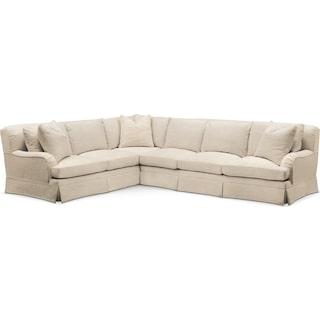 Campbell 2 Pc. Sectional with Left Arm Facing Sofa- Cumulus in Anders Ivory