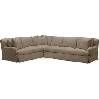 Campbell 2 Pc. Sectional with Left Arm Facing Sofa- Cumulus in Statley L Mondo