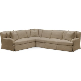 Campbell 2 Pc. Sectional with Left Arm Facing Sofa- Cumulus in Milford II Toast