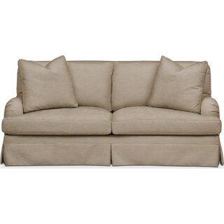 Campbell Apartment Sofa- Cumulus in Dudley Burlap