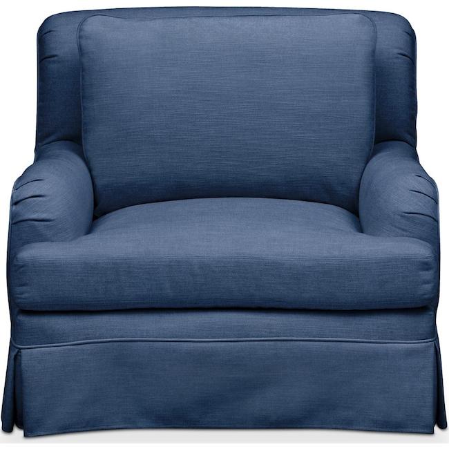 Living Room Furniture - Campbell Chair- Cumulus in Hugo Indigo
