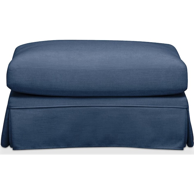 Living Room Furniture - Campbell Ottoman- Cumulus in Hugo Indigo