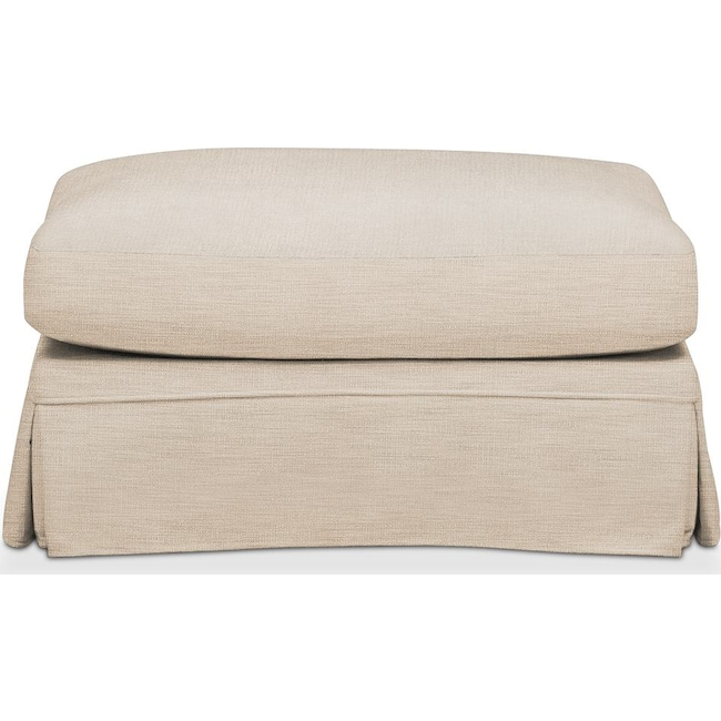 Living Room Furniture - Campbell Ottoman- Cumulus in Victory Ivory