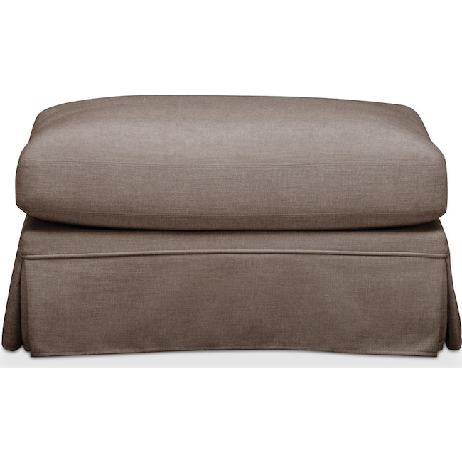 Accent and Occasional Furniture - Campbell Ottoman- Cumulus in Hugo Mocha