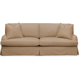 Campbell Sofa- Cumulus in Hugo Camel