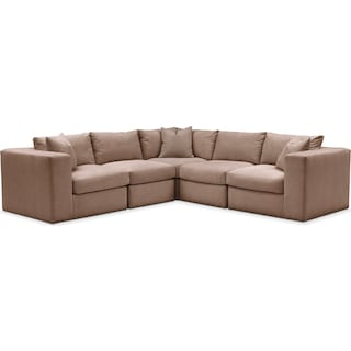 Collin 5 Pc. Sectional - Cumulus in Abington TW Antler