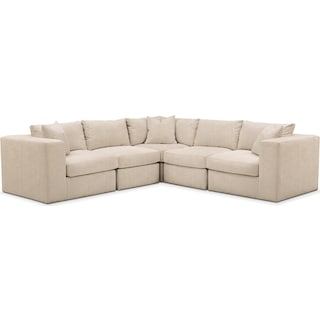 Collin Cumulus 5 Piece Sectional - Dudley Buff