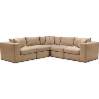 Collin 5 Pc. Sectional - Cumulus in Hugo Camel