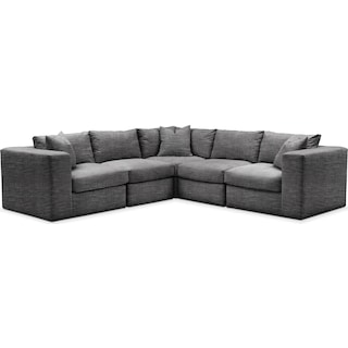 Collin 5 Pc. Sectional - Cumulus in Millford II Charcoal