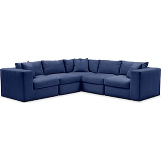 Collin 5 Pc. Sectional - Cumulus in Dudley Indigo
