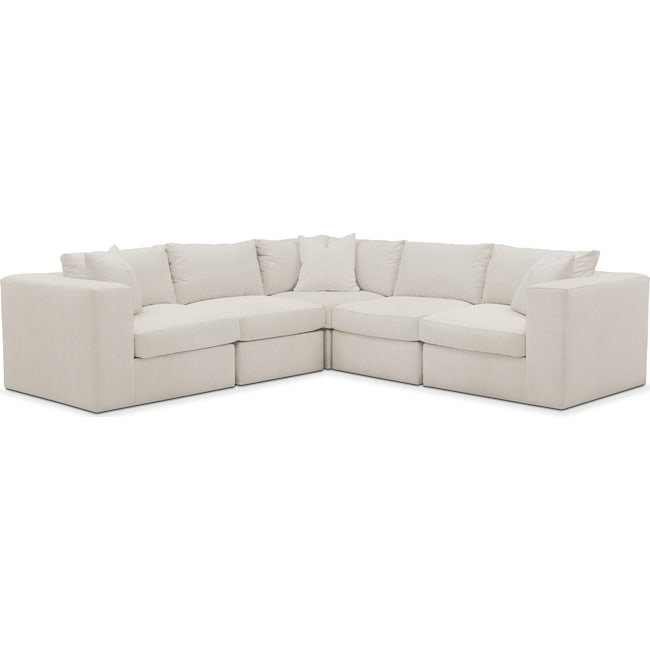 Living Room Furniture - Collin 5 Pc. Sectional - Cumulus in Victory Ivory