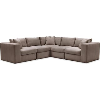 Collin 5 Pc. Sectional - Cumulus in Hugo Mocha