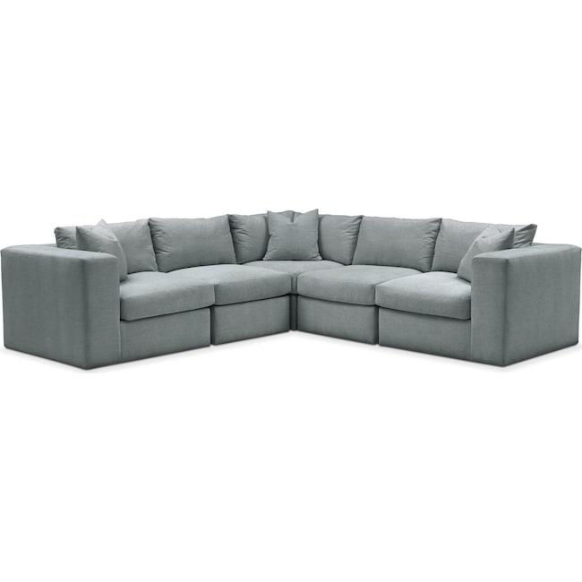 Living Room Furniture - Collin 5 Pc. Sectional - Cumulus in Abington TW Seven Seas