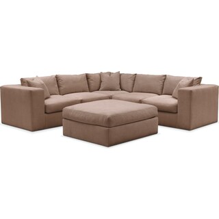 Collin 6 Pc. Sectional- Cumulus in Abington TW Antler
