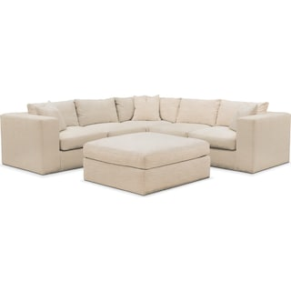 Collin 6 Pc. Sectional- Cumulus in Victory Ivory