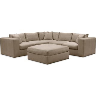 Collin 6 Pc. Sectional- Cumulus in Statley L Mondo